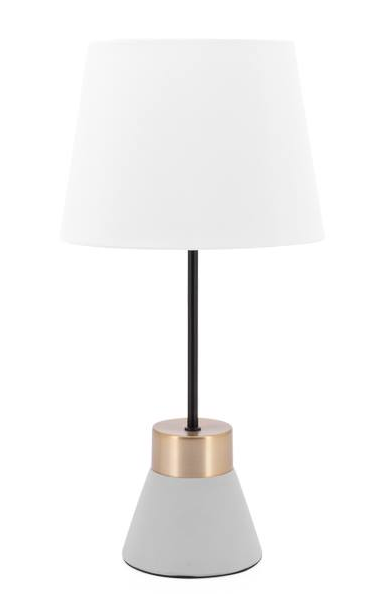 Loris Tapered Brass / Cement Accent Lamp