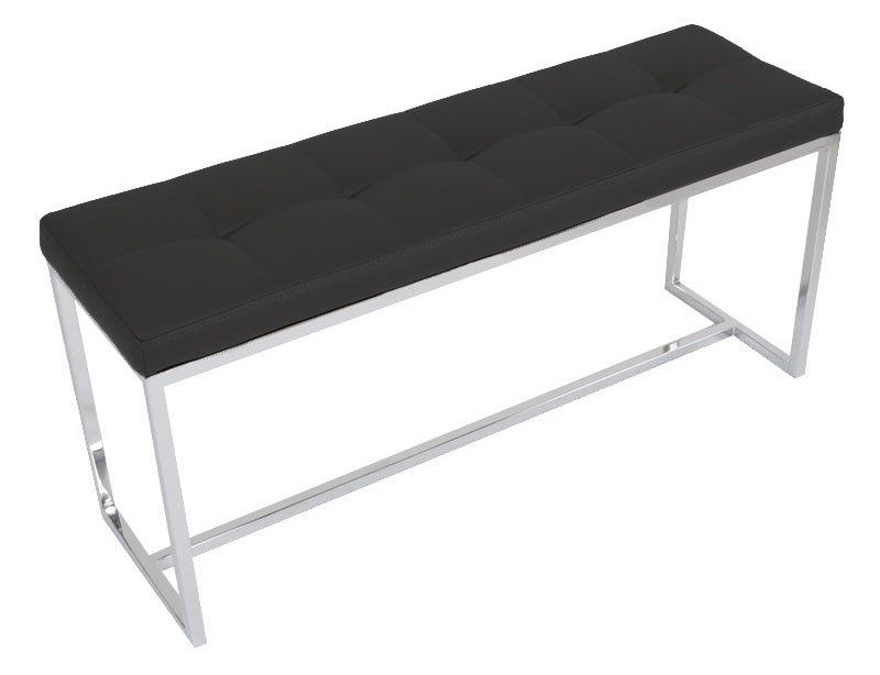 Padded Narrow Bench - Black