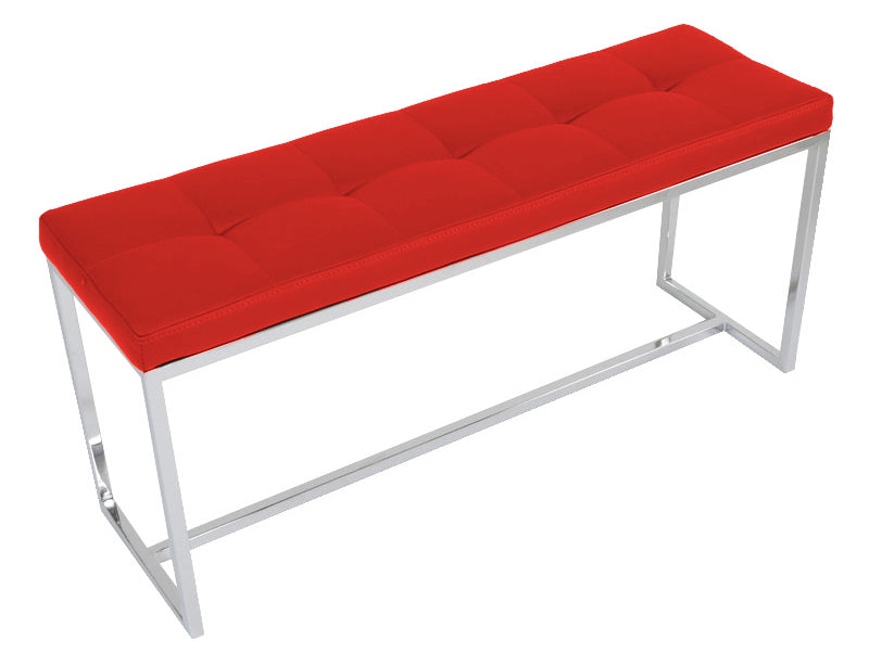 Padded Narrow Bench - Red