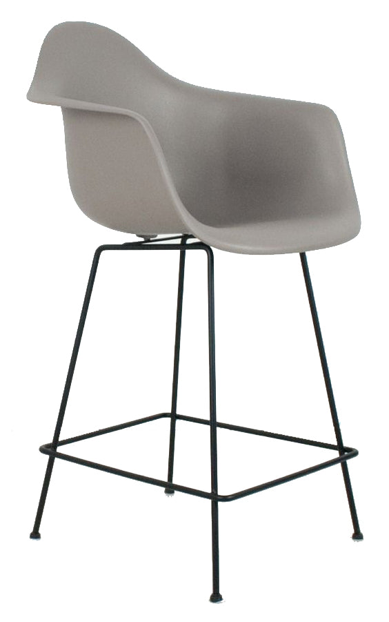 Eiffel Arm Bar Stool with Square Metal Base