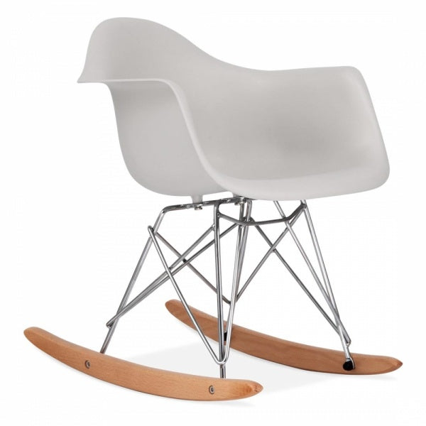 Eiffel Arm Rocker - Natural/Metal Base