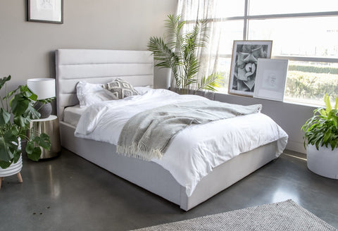 #SALE! Debbie King Bed – Tall Horizon Grey