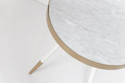 Florence Lamp Table - White Marble
