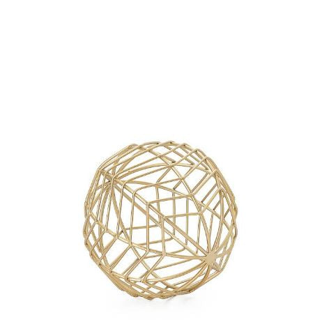 "Chevron Metal Wire 6"" Decor Ball - Small"