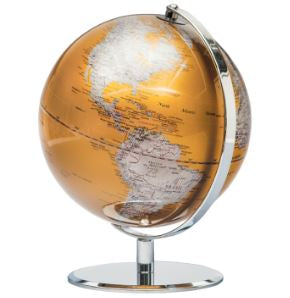Latitude World Globe - Gold