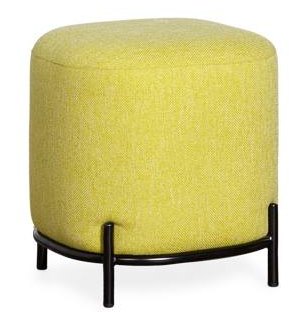 Pender Pin Leg Upholstered Stool - Green
