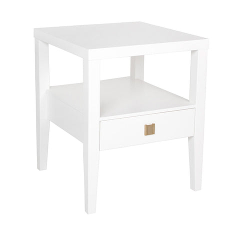 Hara End Table - White