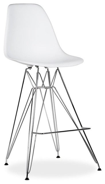Eiffel Bar Stool - Classic Chrome Metal Base