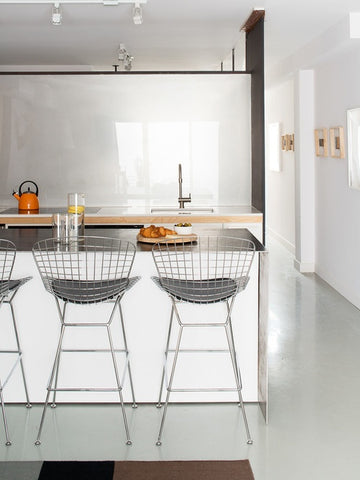 Bertoia Bar Stool - Black