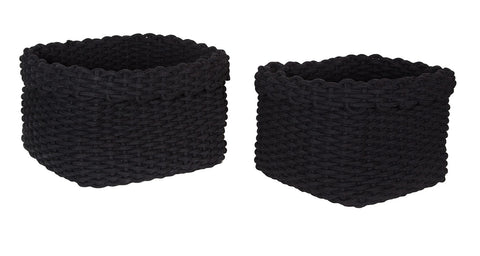 Rope Baskets (Set Of 2) – Black