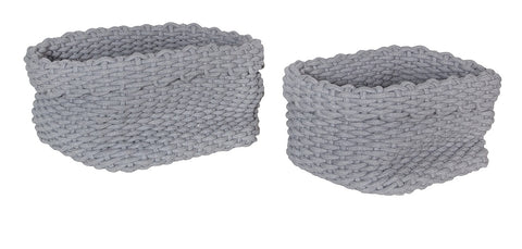 Rope Baskets (Set Of 2) – Grey