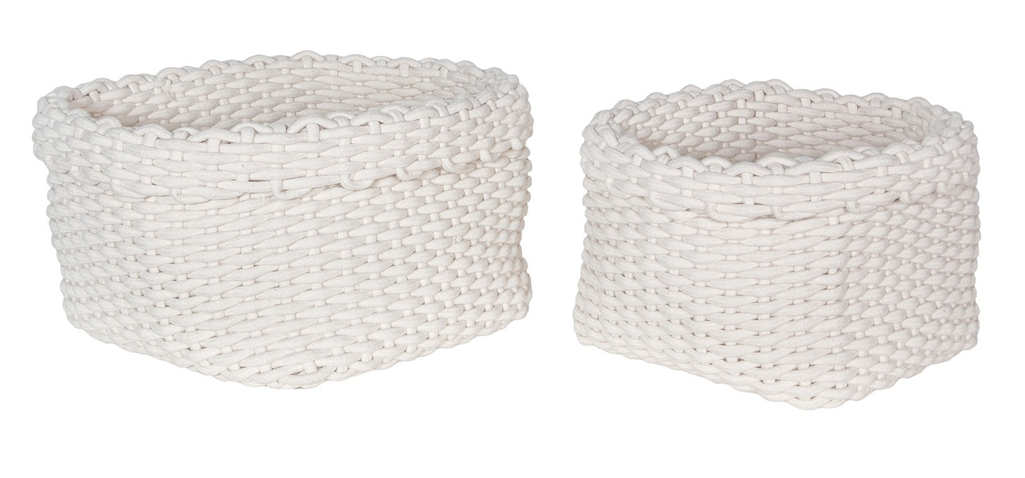 Rope Baskets (Set Of 2) – White