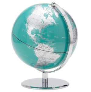 Latitude World Globe - Teal