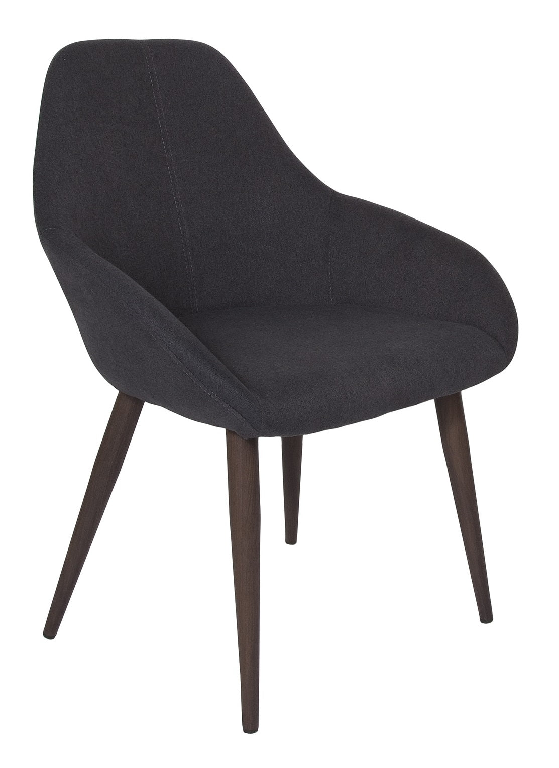 Tina Chair – Graphite / Walnut