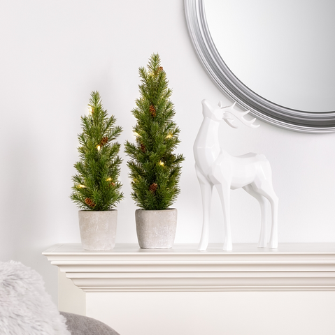 Nordic LED Mini Potted Pine Tree - Small