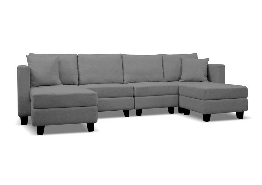 Waterloo Modular Sectional Sofa - Dark Grey