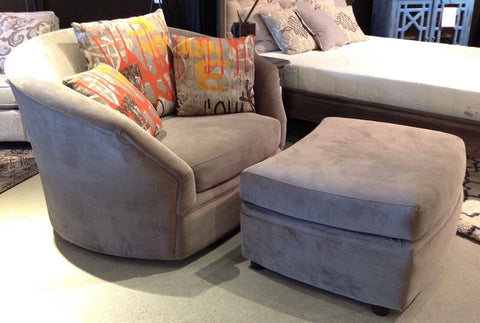 Swoon Lounge Chair & Ottoman - Custom Made
