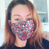 Cotton Face Mask Medium (womens) Black