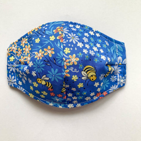 Cotton Face Mask Medium (womens) Blue Bee's