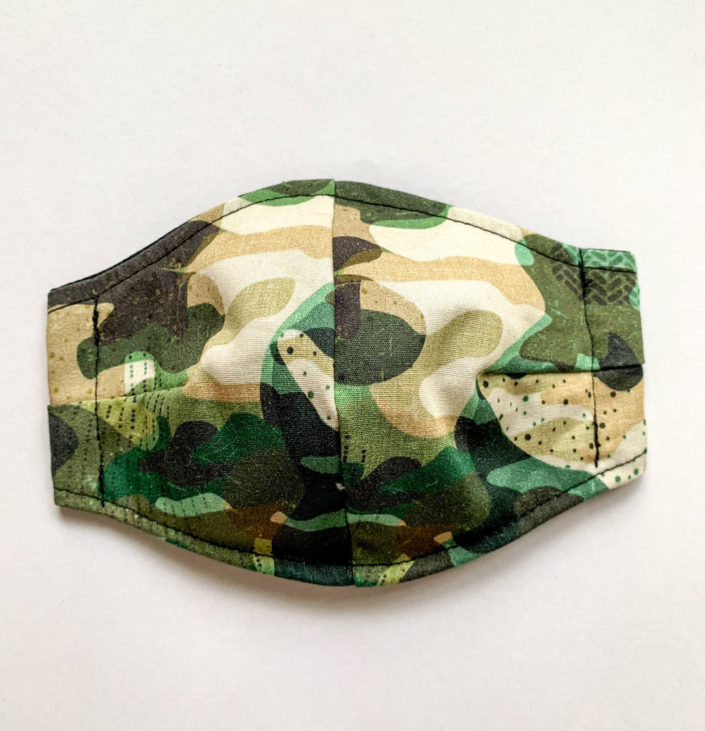 Cotton Face Mask Large (mens) Camo