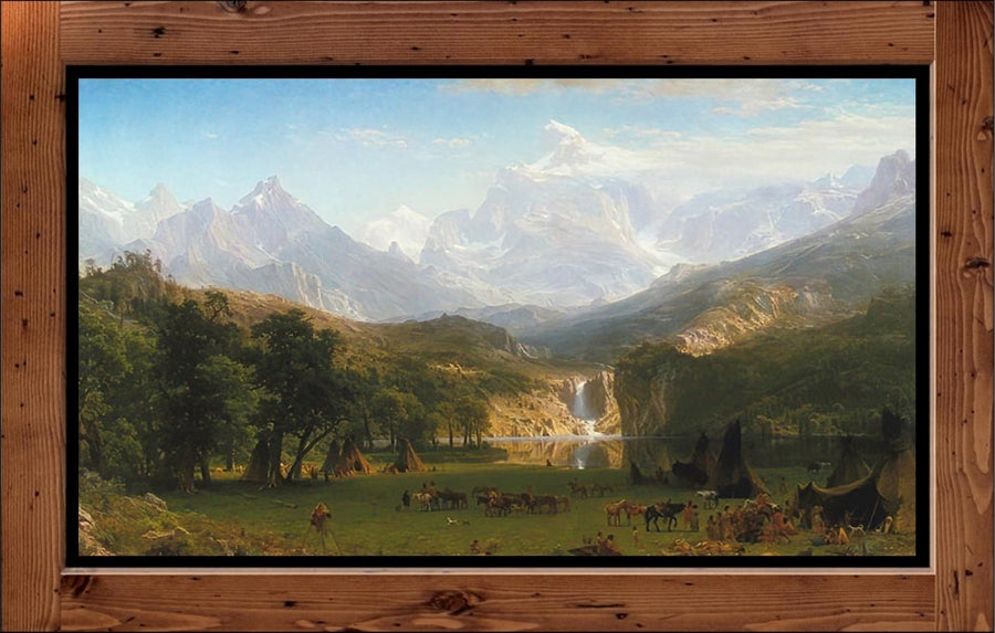 "Albert Bierstadt  ""The Rocky Mountains, Lander's Peak"" (1863)"