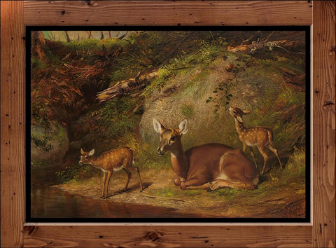 "Arthur Fitzwilliam Tait  ""Doe and Two Fawns""  (1882)"