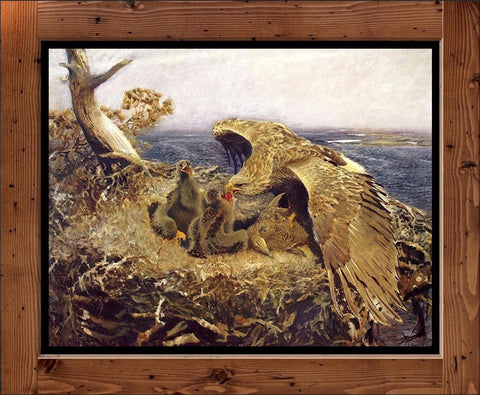 "Bruno Liljefors  ""Sea Eagles Nest""  (1907)"
