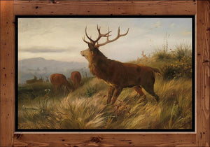 "Carl Friedrich Deiker  ""Herd of Red Deer""  (1888)"