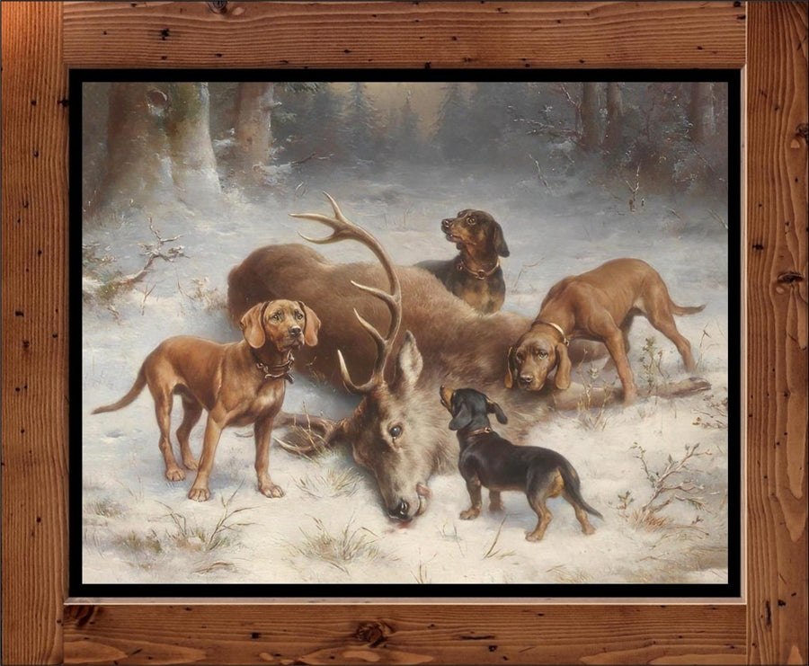 "Carl Reichert ""Dogs With Killed Deer""  (1902)"