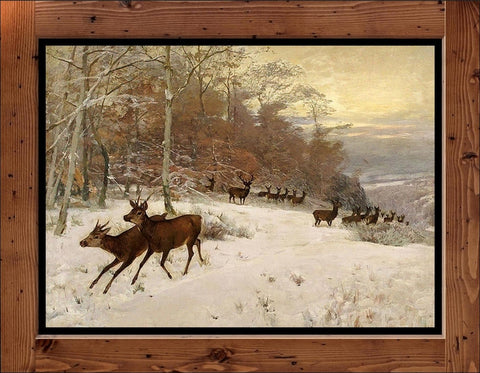 "Christian Kröner  ""Deer Pack in Winter""  (1911)"