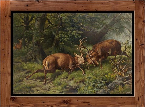 "Franz Xaver von Pausinger  ""Fighting Deer""  (1887)"