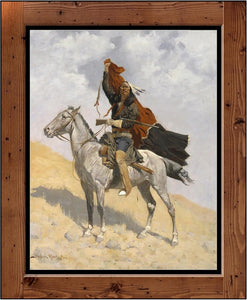 "Frederic Remington  ""The Blanket Signal""  (1891)"
