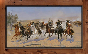 "Frederic Remington  ""A Dash for the Timber""  (1889)"