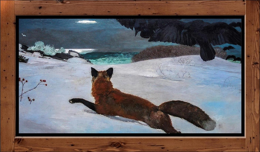 "Winslow Homer  ""Fox Hunt  (1893)"
