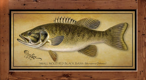 Denton Fish Print - Small Mouth Bass  (1896)