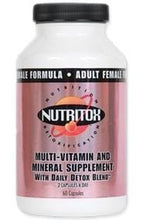 Load image into Gallery viewer, Nutritox Female Multivitamin - elite personal trainers, Virtual Fitness Training, Virtual fitness classes, Nutrition Guidance | Elevate Fitness