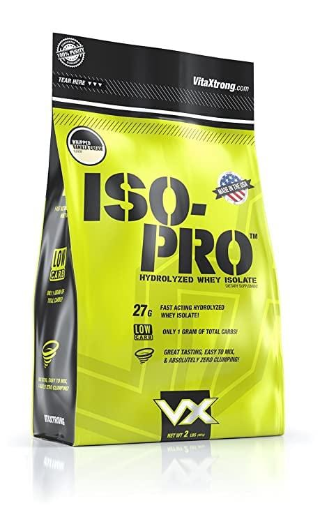 Vita Xtrong Iso-Pro Strawberry Swirl 2lb - elite personal trainers, Virtual Fitness Training, Virtual fitness classes, Nutrition Guidance | Elevate Fitness