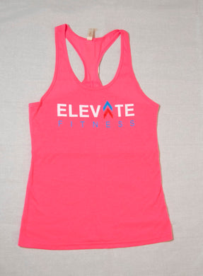 Pink Women's Razorback - elite personal trainers, Virtual Fitness Training, Virtual fitness classes, Nutrition Guidance | Elevate Fitness