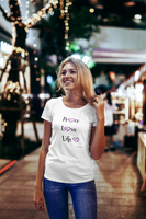 .Peace, Love, Life (Women's short sleeve t-shirt)