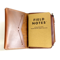 Branded Leather Pocket Size Journal Cover with Pen Holder