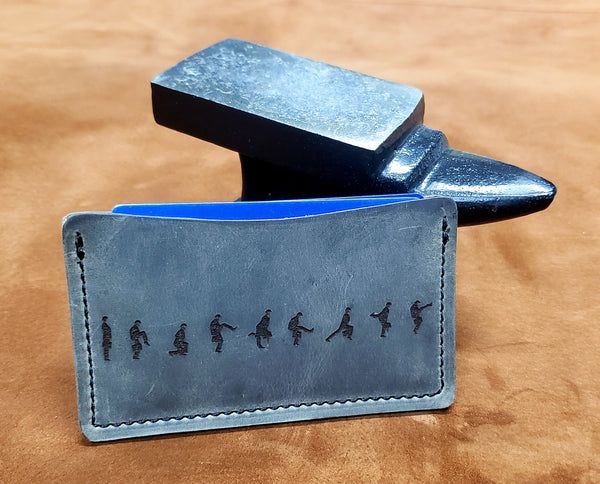 Ministry of Silly Walks Leather Minimalist Wallet
