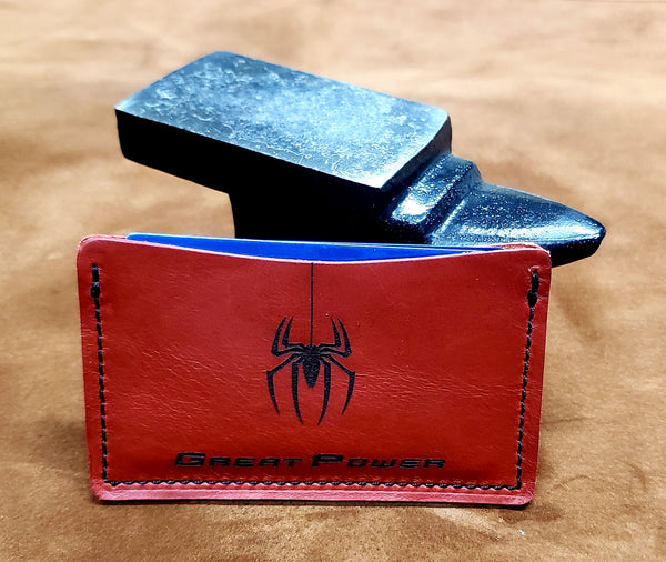 Spiderman Great Power Leather Minimalist Wallet