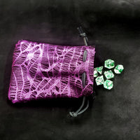 Metallic Purple Leather Dice Bag Thick Suede