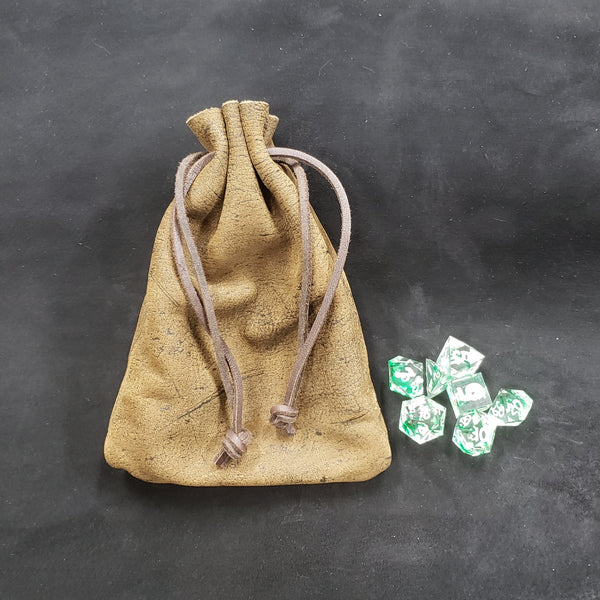 Exotic African Cape Buffalo Leather Dice Bag