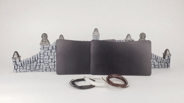 Leather Minimalist Wallet Kit - Dark Blue Black
