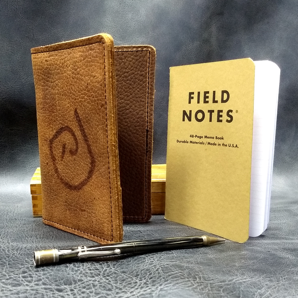Branded Leather Pocket Size Passport and Journal Cover