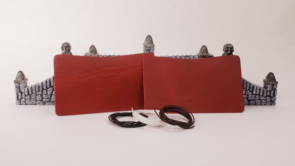 Leather Minimalist Wallet Kit - Dark Red