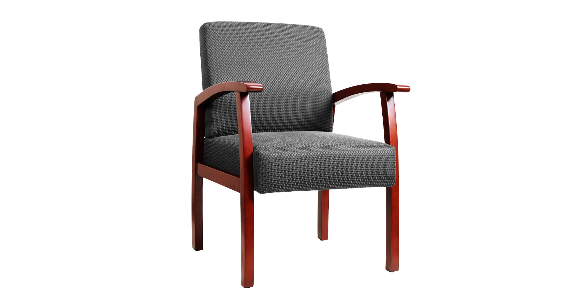 Roow Designer Mid Back Fabric Guest Chair Cherry Color