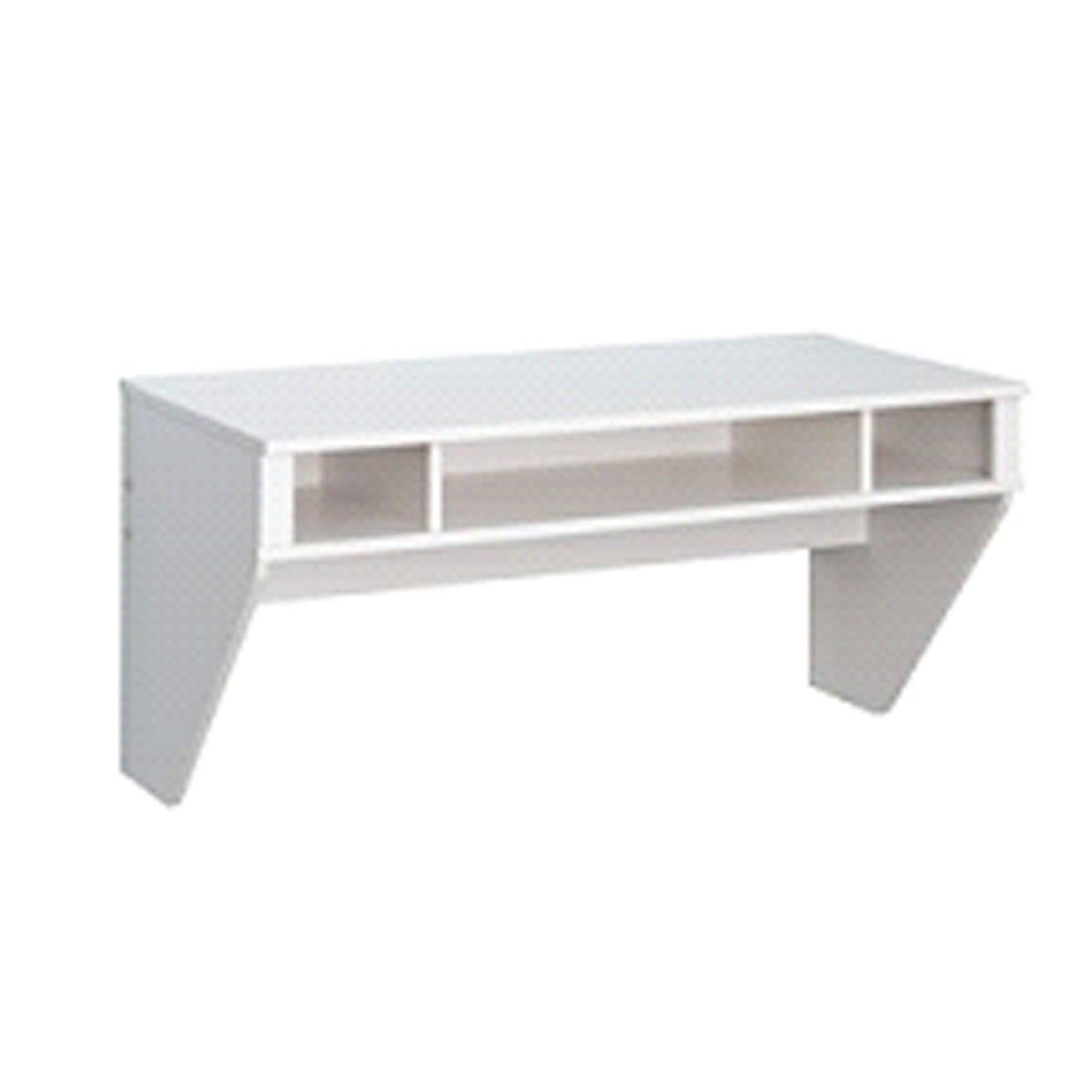 TygerClaw Stylish Designer Floating Desk, White