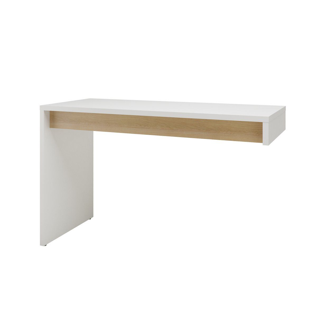 TygerClaw Chrono Reversible Desk Panel, White and Natural Maple